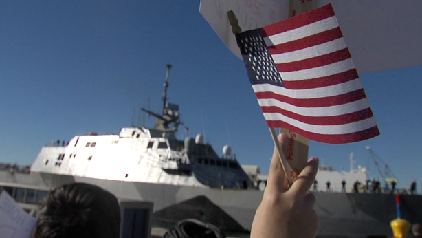 The littoral combat ship USS Freedom returned Monday to its home port of San ...