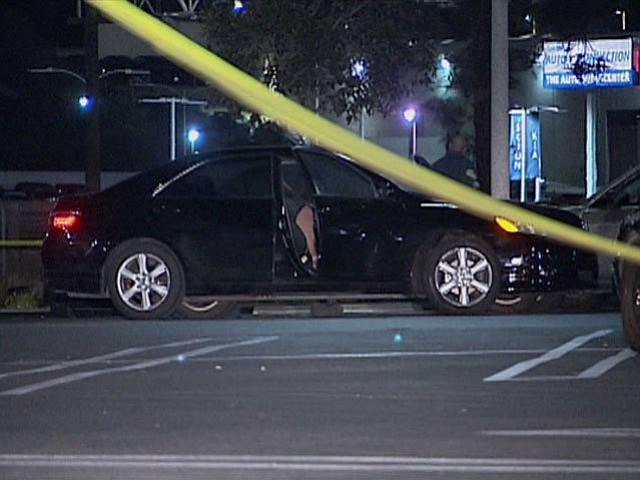 The victims, both in their 20s, were found in a car parked across from Macy's...