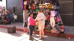 Along the Ensenada waterfront, Petra Cruz Garcia sells crafts and souvenirs to tourists, many of them from Tijuana and San Diego