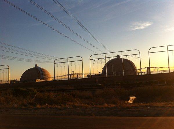 This undated photo shows the San Onofre Nuclear Generatin...