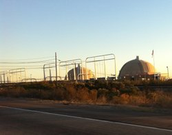 San Onofre from Interstate 5.
