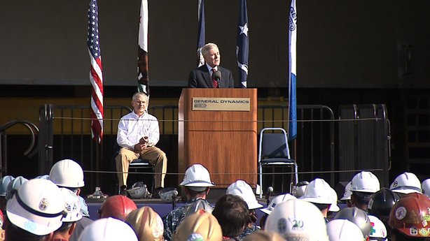 Navy Secretary Ray Mabus made his third visit to the NASSCO shipyard in Natio...