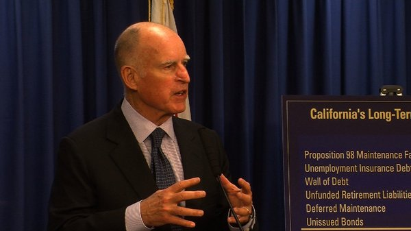 Gov. Jerry Brown spoke at a news conference in San Diego ...