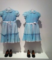 Th choice of hanging these dresses in a kind of ghostly manner proved exceptionally effective... and creepy.