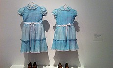 Th choice of hanging these dresses in a kind of ghostly manner proved excepti...
