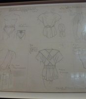 "Costumes sketches for Kirk Douglas in ""Spartacus."""