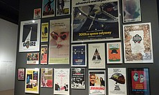 The LACMA exhibit has a gorgeous wall of Kubrick posters from a variety of his films and from a diverse array of countries.