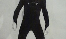 "Dan Richter in the ape suit for ""2001."""