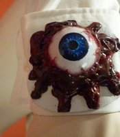 The eyeball from the cuff of McDowell's costume.