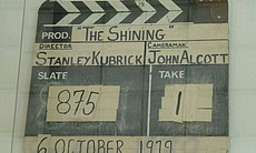 "The slate for ""The Shining."""
