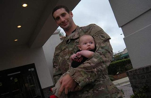 Army Sgt. Daniel T. Lee and son