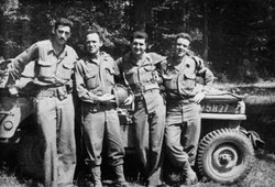 """The Four Musketeers"": J.D. Salinger, Jack Altaras, John Keenan, Paul Fitzgerald. Salinger was part of the U.S. Army's Counter Intelligence Corps (CIC) on the ground in Europe during World War II. Salinger formed a strong bond with three other men in the CIC and they dubbed themselves the Four Musketeers."