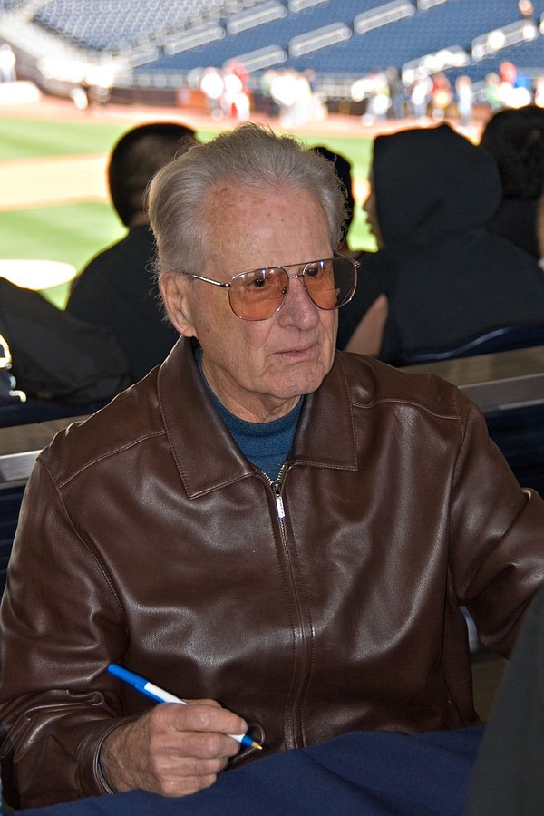 San Diego Padres broadcaster and Marine veteran Jerry Coleman in January 2008.