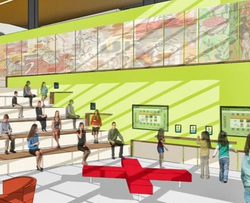 Rendering of interior space of Design39Campus from PUSD website.