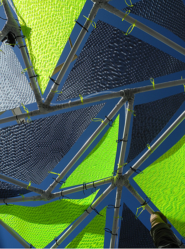 The solar parasols look more like awnings than umbrellas, and the prototypes ...