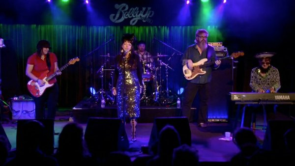 Candye Kane performs live at the Belly Up Tavern.