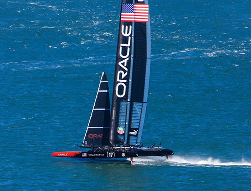 The 2013 America's Cup was contested in 72-foot catamarans, with a crew of 11...