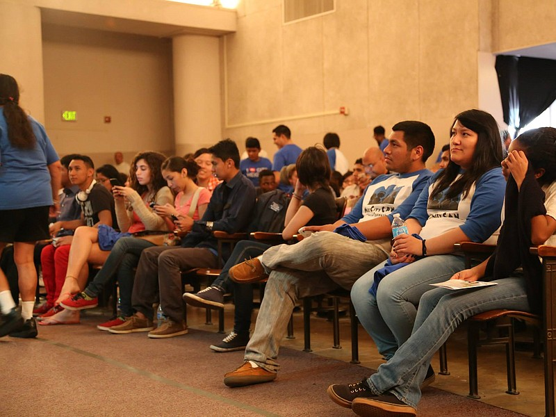 About 300 community members, including youth not yet old enough to vote, atte...