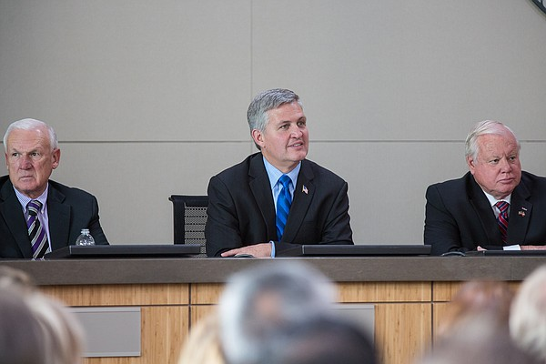San Diego County Supervisors (left to right) Ron Roberts, Dave Roberts and Bi...