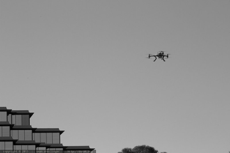 The flight team from 3-D Robotics demonstrates a do-it-yourself drone, Dec. 1...