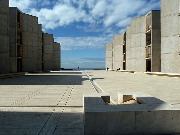 The campus of the Salk Institute is shown in this undated...