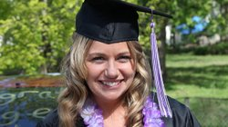 Naomi Kramer at her nursing school graduation from Goshen College in Goshen, ...