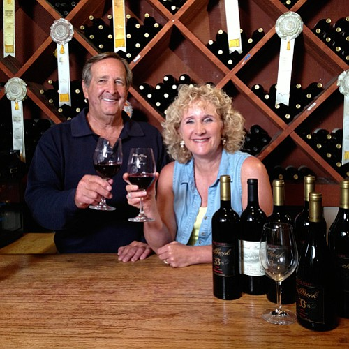 Ira Gourvitz and host Nan Sterman, Fallbrook Winery. Rebe...
