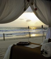 A massage on the beach at the Grand Velas Nayarit Beach Resort.