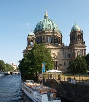 This July 2010 photo shows the Berlin Cathedral Church as taken from the Spree.