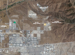 This map shows the location of the proposed Pio Pico power plant.