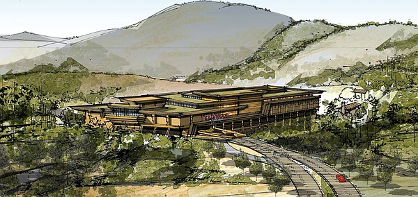 This image shows a rendering of the Hollywood Casino, 2014.