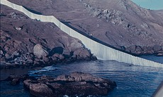 "Christo and Jeanne-Claude's 1976 ""Running Fence"" stretched across northern Ca..."