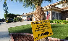 Morning at San Carlos polling place, 6302 Lake ...