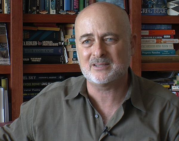 San Diego science fiction writer David Brin sees overlap between themes in hi...