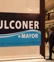 Down at the U.S. Grant for Kevin Faulconer's election party.