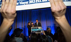 Mayoral candidate David Alvarez and family at e...