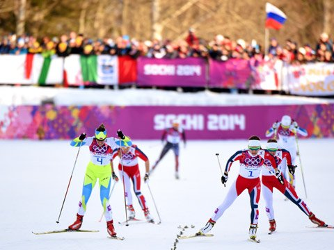 Women's Cross-Country Skiing at the Winter Olympics in Sochi, Russia. 2014