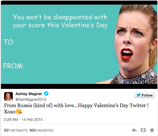Ashley Wagner's Twitter Valentine