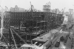 Pennsylvania Railroad Station, in construction, New York.