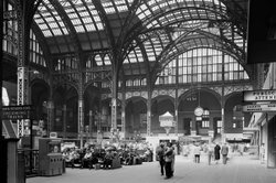 Interior photo of Penn Station, 1962.