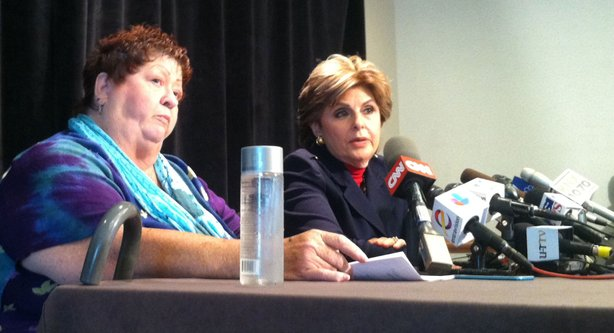 Joined by attorney Gloria Allred, Peggy Shannon, 67, accuses Mayor Bob Filner of unwanted sexual advances at a press conference, Aug. 15, 2013.
