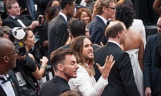 Jared Leto arriving.