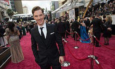 Sher-locked! Benedict Cumberbatch arrives at the Oscars.