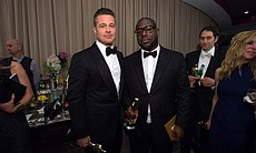 "Brad Pitt may not have an acting Oscar but he now has one for producing ""12 Years a Slave."" Director Steve McQueen was shut out for helming the film but took home gold for producing it."