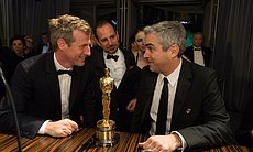 Just a couple Oscar winners sitting around... Spike Jonze and Alfonso Cuaron.