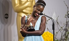 Lupita Nyong'o showing Oscar some love.