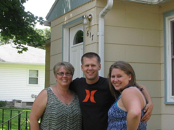 Marine Corps Lance Cpl. Caleb L. Erickson with his family.