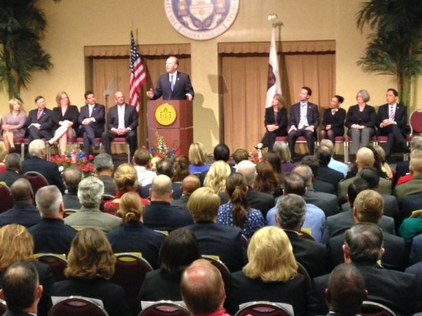 Kevin Faulconer began his mayoral term on Mar. 3, 2014.