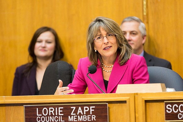 San Diego City Councilwoman Lorie Zapf at a council meeti...