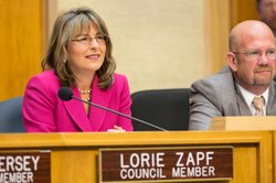 San Diego City Councilmember Lorie Zapf at council meeting February 25, 2014.